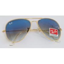 Oculos Rayban Aviador Original Azul Degradê Pronta Entrega