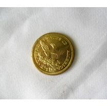 Moeda 2.1/2 Dolar 1865 Usa Ouro [replica]