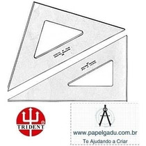 Par Esquadros Sem Graduação 32cm Desetec Mod.. 2532/2632