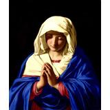 Virgem Maria Em Oração Sassoferrato Repro Grande Tela