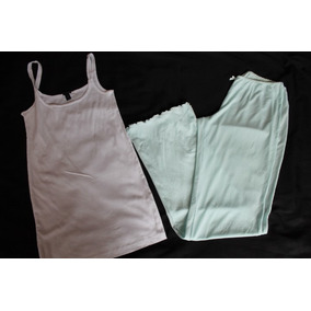 Victoria Secret Jcrew Set Pijama Mesh Menta/bca Talla Xs