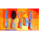 Set Peinado: Espejo Rostro Cepillos Pinza Y Peineta Cabello