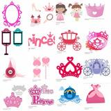 Silhouette Tema Princesa Coroa Realeza Moldes