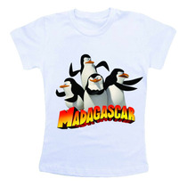 Camiseta Infantil Personalizada Madagascar Cm186