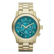 Relógio Michael Kors Mk8315 Dourado Turquesa Promoçao