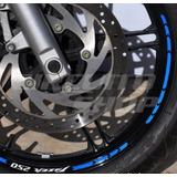 Friso Adesivo Refletivo Rec05 Roda Moto Yamaha Fazer 250