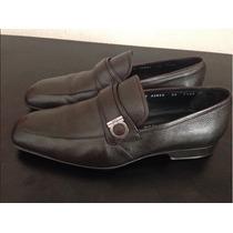 New Salvatore Ferragamo Brown Gancini Loafers Driver Shoes M