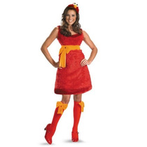 Disfraz Elmo Plaza Sesamo Mujer Talla Grande (12/14)