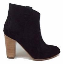 Natacha Zapato Mujer Bota Caña Baja Descarne Negro #1441