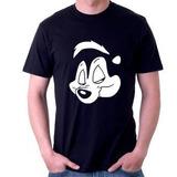 Camiseta Slash Pepe Le Pew Slash Guns N Roses 100% Algodão