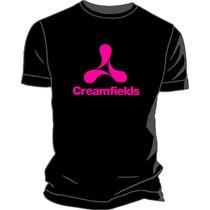 Remera Creamfields Fluo Estampada Ploteada Vinilo