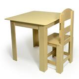 Mesa Infantil Tampo Abre E Fecha 4 Cadeiras - Mdf Cru