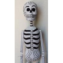 Marioneta Calaca Barro- Maché- Hasta 31 Marzo