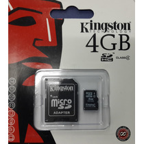 Memoria Microsd Kingston 4gb+adaptador En Blister Sellada