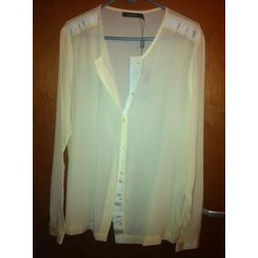 Camisa Feminina Mixed Seda Pura Off White P Grande