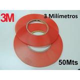 Fita Dupla Face 3mm Adesiva 3m Rolo 50mt Celulares E Touch