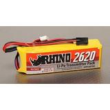 Bateria Lipo P/ Radio Rhino 2620mah 3s 11,1v Futaba, Turnigy