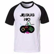Camisa Camiseta Raglan Evangélica Gospel Jesus No Controle