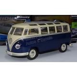 1:24 Volkswagen Bus 1962 Azul Kinsmart Combi Display