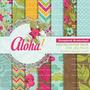 Kit Imprimible Fondos Hawaiianos Playa Flores Aloha Boda