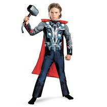 Disfraz Avengers Thor Niño Talla Mediana (7/8) Con Musculos
