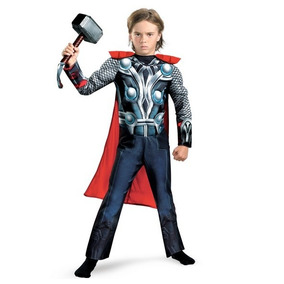 Disfraz 7 A 8 Años Avengers Thor Niño Con Musculos