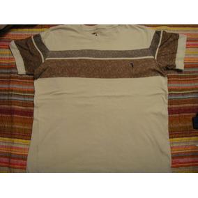 South Blusa Camisa Camiseta Bege Listas Tam. G