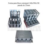 Forma Para Maquina De Bloco Hidraulica 14x19x39 Vedação
