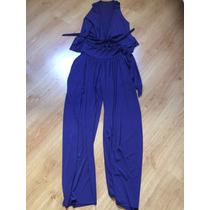 Conjunto Em Malha Com Calça Tipo Pantalona E Regata