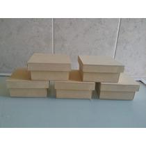 Caja De Fibrofacil De 10x10x5 Con Tapa Zapato X 10 Unidades