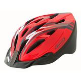 Casco De Bicicleta Mtb Ajustable Rojo M / L