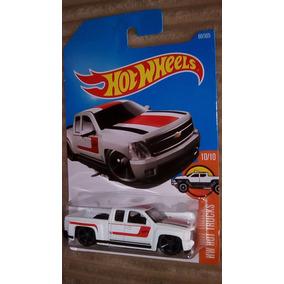 Hot Wheels Chevy Silverado Camioneta Blanca
