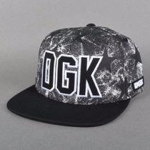 Boné Dgk Rough Snapback Cap Black/stars Original P Entrega