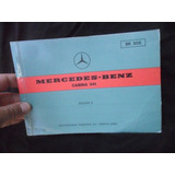 Mercedes Benz Cabina 341 1978 Manual Original Despiece