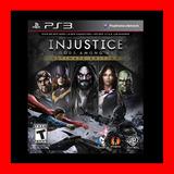 Injustice: Gods Among Us Ultimate Edition Ps3 Digital Oferta