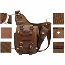 Mochila, Bolsa Vintage Para Hombre