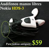 Manos Libres Nokia Hds-3 N92 3220 N77 N90 N93 N91 3250 9500