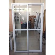 Puerta Ventana Balcon De Aluminio Blanco 1,20 X 2,00 Mts
