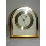 Antiguo Reloj Pared Seiko Metal Bronce Estilo Art Deco Pila