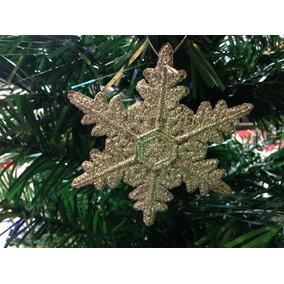 Enfeite Natalino 3 Estrelas (floco De Neve) Prata 12cm