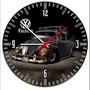 Fusca Vw Carro Antigo Relógio De Parede Decorativo