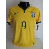 Camisa Brasil Home 14-15 Fred 9 Patch Copa 2014 Importada 6348c3efc28d9