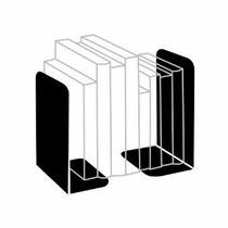 Suporta Livros Apoio Lateral Organizador Metal Kit Com 2 Pç