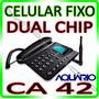 Telefone Celular Rural De Mesa Ca-42 Aquário ** Dual Chip **