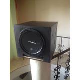Bajo Rockford 12 Con Amplificador Monoblock 1600w Y Cajon
