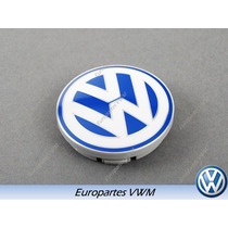 Tapon Centro Rin Original Volkswagen Center Cap 56mm Azul