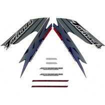 Jogo De Adesivos / Faixas Xr 250 Tornado 2003 Azul