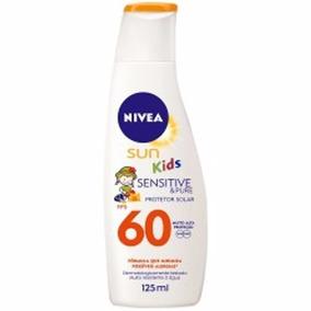 Protetor Nivea Sun Kids Sensitive & Pure Fps 60 - 125ml