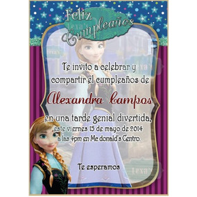 Kit Imprimible Fiesta Frozen Ana + Candy Bar Personalizad