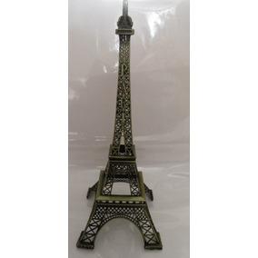 Torre Eiffel Metal !!!! 48 Cm Grabado Paris Caja De Regalo
